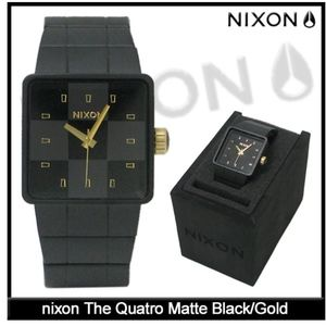 GUC Nixon Men's Quatro Black Stainless-Steel
